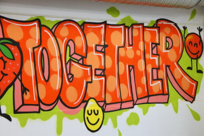 graffiti projekt zur mensagestaltung st dt gesamtschule. Black Bedroom Furniture Sets. Home Design Ideas